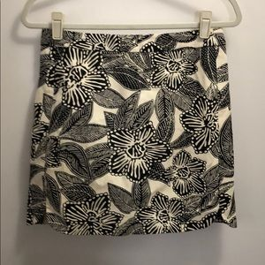 J Crew Floral Mini Skirt Size 2